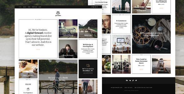 Yonkers – Responsive Retina-Ready HTML5 Portfolio - Creative Site Templates