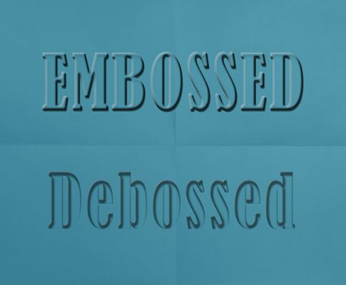Photoshop Tutorial: Quick Steps to Create an Embossed or Debossed Text Effect