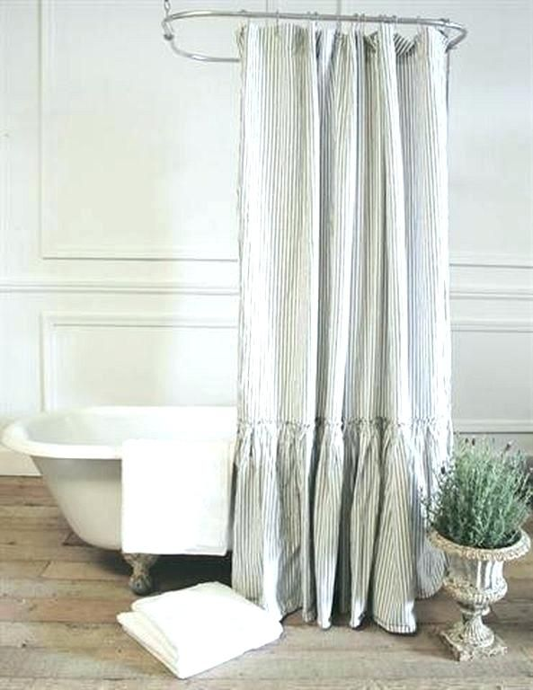Shower Curtain For Freestanding Tub Tub Shower Curtain Ideas Free Standing With Vintage F Farmhouse Shower Curtain Ruffle Shower Curtains Fancy Shower Curtains