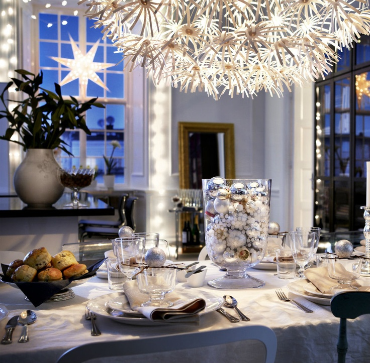 Decorate your home for New Years, with simple pops of color, like silver and gold.