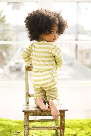 Lovely baby girl with natural hair