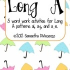 Your kids will love working on their long a words with this fun pack! Includes ai, ay, and a_e. Activity 1: Long A Sort (with pictures!)Activit... $2.00