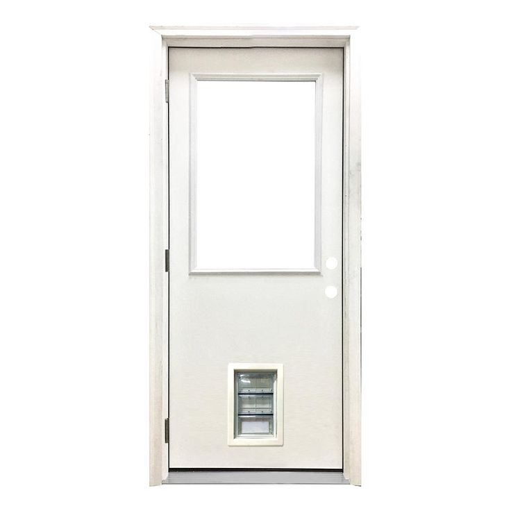32 x 80 exterior door with pet door. 32 x 80 exterior door with pet built in