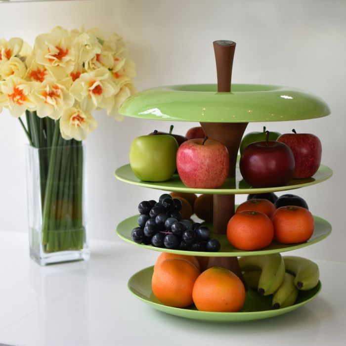 Made in Great Britain this unique apple tier ceramic fruit bowl looks stunning as a centrepiece laden with your freshly brought fruit or awaiting replenishment. #Unique #Apple #Tier #Ceramic #Fruit #Bowl