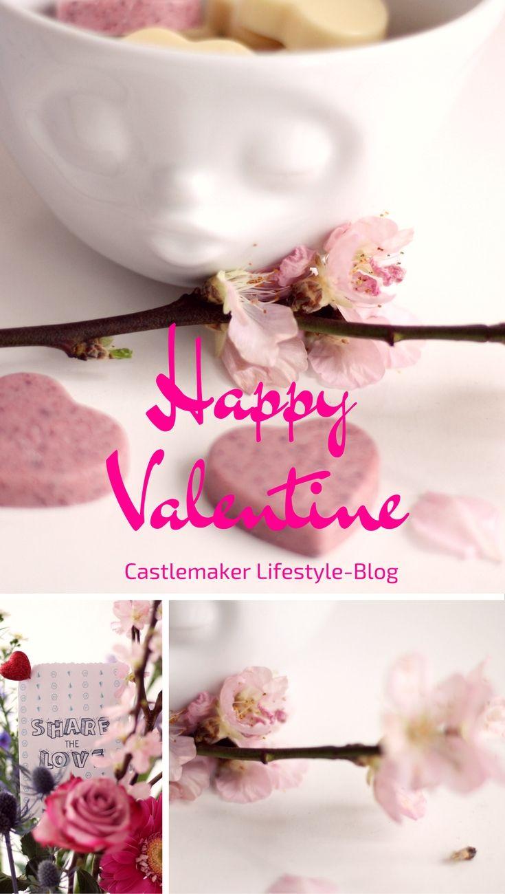 Hier gibt es meine Gedanken zum Valentinstag und außerdem diese süße Kusstasse. 58products Gesichtertasse, kuss, küssend, blumen, pralinen
