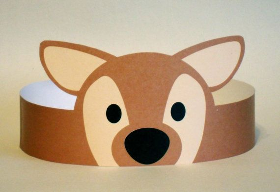 Deer Paper Crown Printable by PutACrownOnIt on Etsy