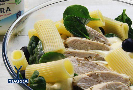 Receta Ensalada de pasta y pollo al limón con Ligera Ybarra - Ybarra en tu cocina