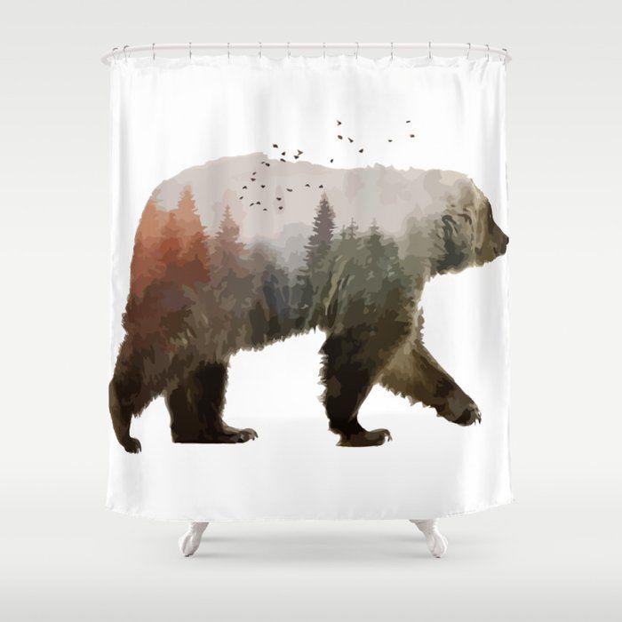 Bear Shower Curtainbear Shower Curtain Stop Neglecting Bathroom