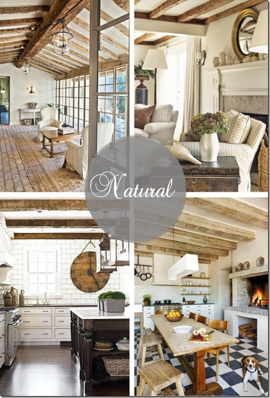 Natural neutral colors wood beam layout ideas english for Natural wood beams