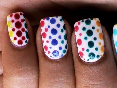937 best video tutorials learn to create nail art images on dotting nail art designs for beginners cute easy polka dots dotting tool dotted nails technique prinsesfo Gallery