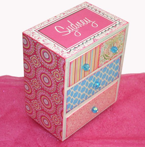 Girls Jewelry Box Bohemian Princess Personalized by NandJDesigns