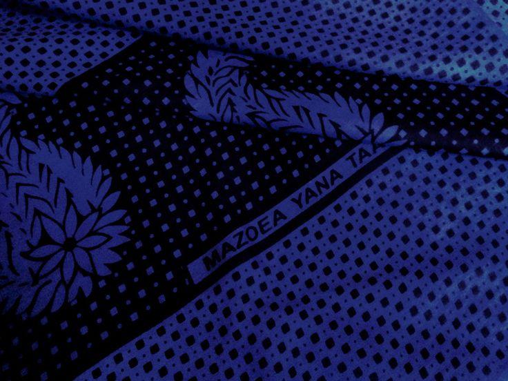 """Stoff afrikanisch - afrikanischer Stoff: Kanga """"blue"""" - ein Designerstück von Madukani bei DaWanda"""