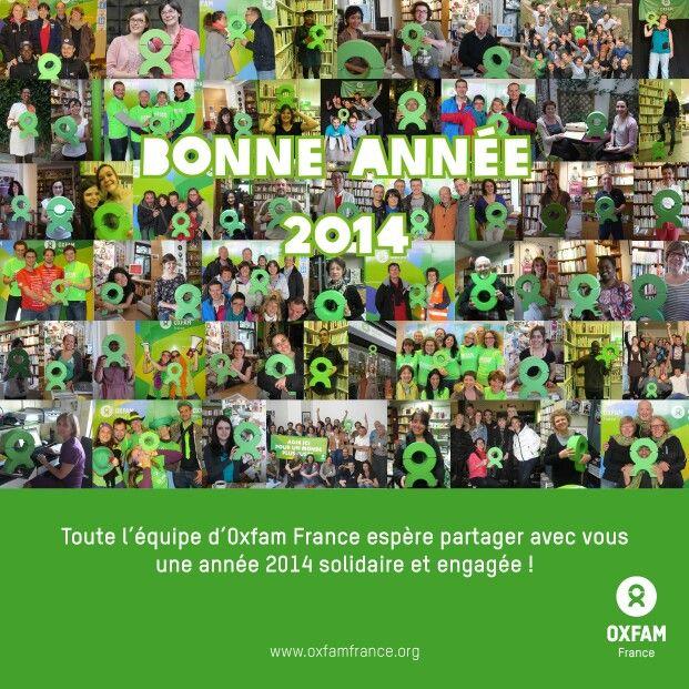 Bonne année de la part de toute l'équipe d'Oxfam France