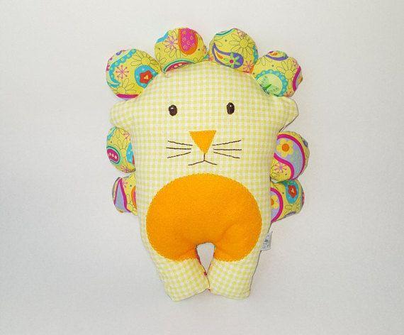 Lion plushie/ softie/ baby toy leon de trapo por FlofyCo en Etsy