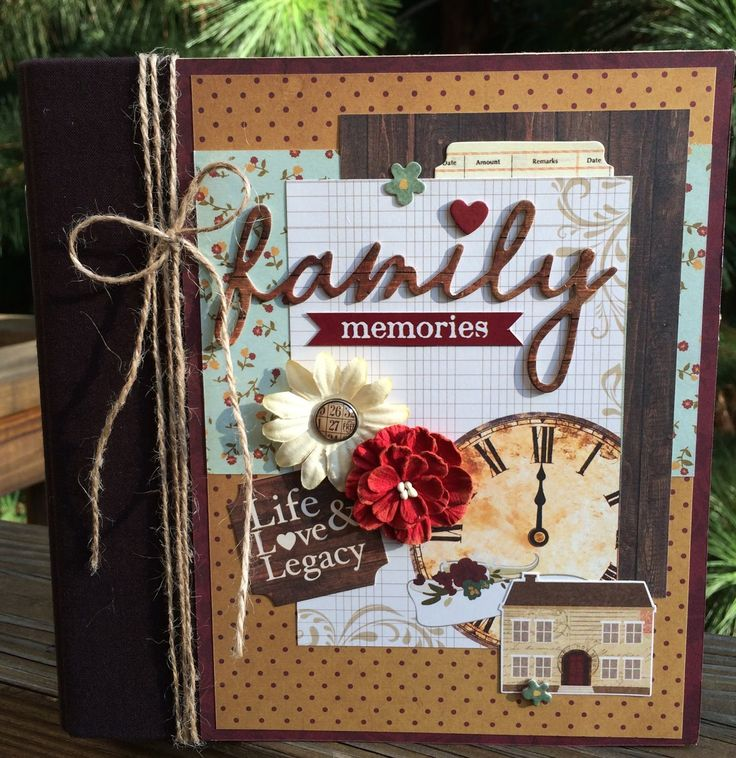 Artsy Albums Scrapbooking Kits and Custom Designed Scrapbook Albums by Traci Penrod: Family Scrapbook Album with Simple Stories Legacy