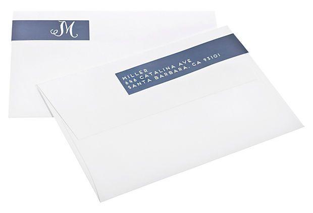One Kings Lane - Finds Under $50 - S/60 Script Letter Address Labels, Navy