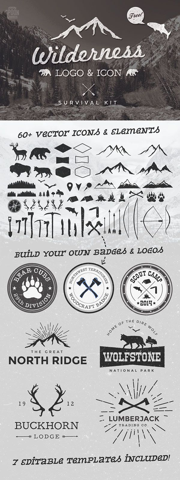 50+ Free Vintage Logo Badge & Insignia Templates on Behance