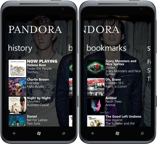 Pandora for Windows Phone by Conner Monsees, via Behance