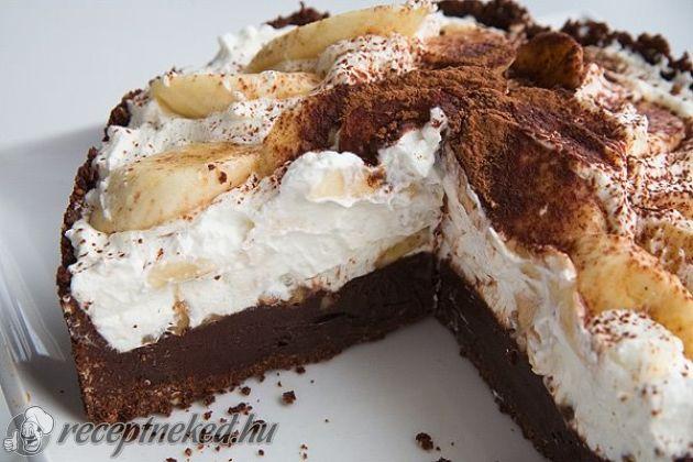 Banános-karamelles csokitorta recept - sütés nélkül| Receptneked.hu ( Korábban olcso-receptek.hu)