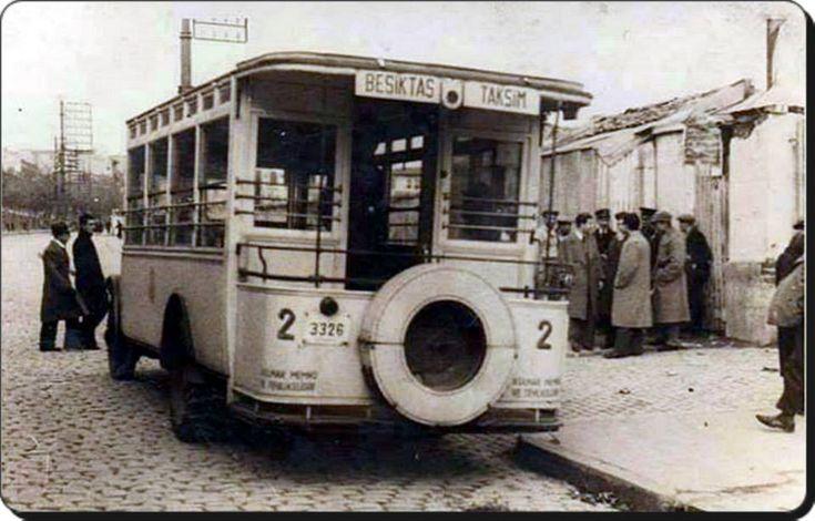 Beşiktaş-Taksim otobüsü / 1950'ler @IstanLOOK #istanbul