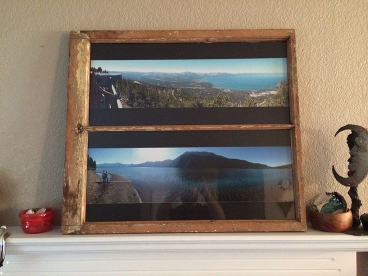 repurposed wood window panoramic picture frame. prinz acrylic ...