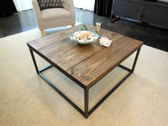 Cube coffee table in Real wood and Real steel. 36 x 36 and 18 tall - 25+ Best Ideas About Cube Coffee Table On Pinterest Future Games