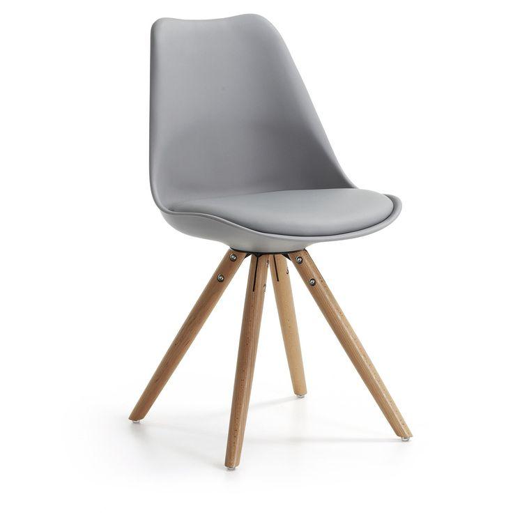 Chaise Ralf, naturel et gris foncé
