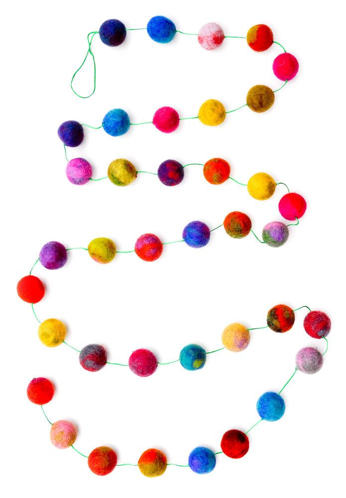 marbled felt ball garland