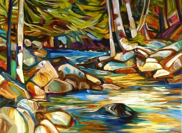 """Julia Veenstra, Down By The Creek, 30"""" x 40"""", acrylic on canvas"""