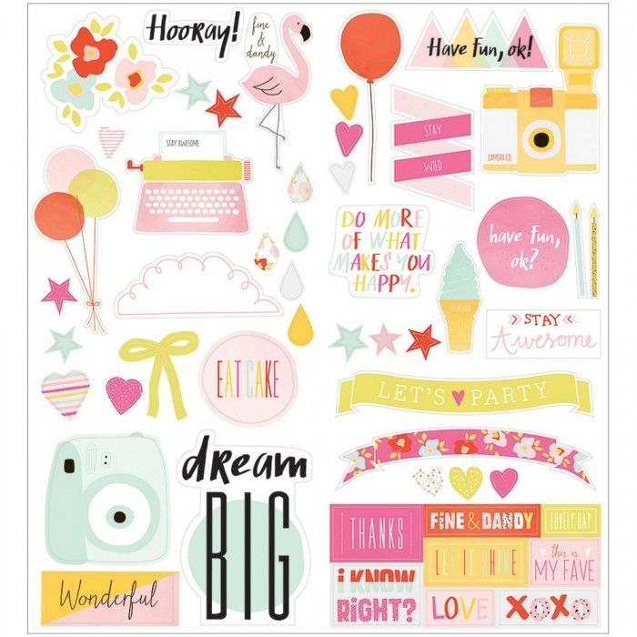 American Crafts - Dear Lizzy Collection - Fine and Dandy - Cardstock Stickers - Accent and Phrase at Scrapbook.com
