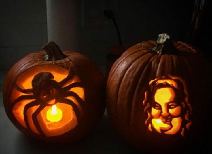 One of my friends carved Mama June on a pumpkin