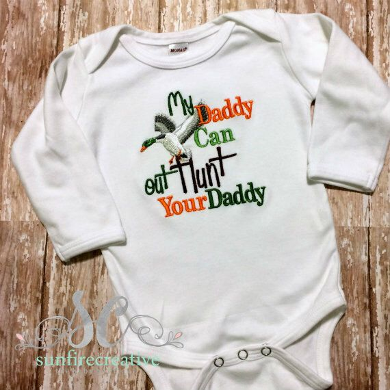 Newborn Hunting Outfit - Kid's Fathers Day Gift - Boys Hunting Shirt - Hunting…