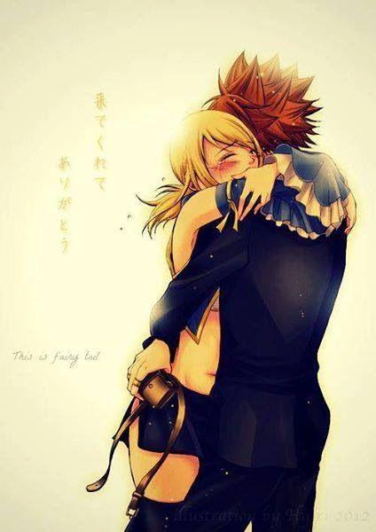 NaLu hug.
