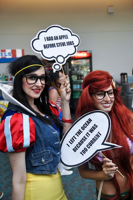 Comic Con's Hipster Arielle and Snow White by AaronBerkovich, via Flickr
