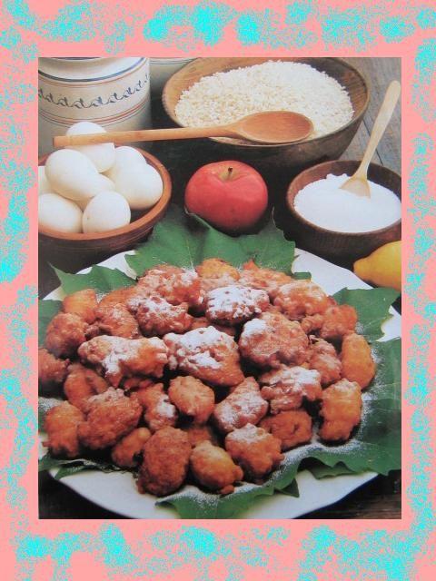 Frittelle di riso e mele. - Il Mondo dei Dolci