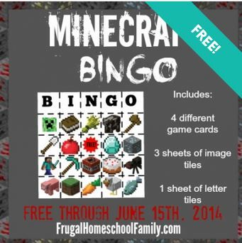 FREE Minecraft Bingo Download! {limited time!}