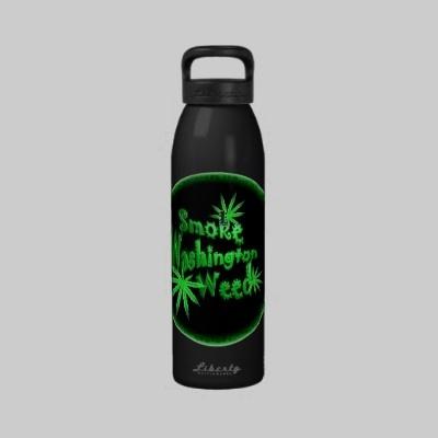 Valxart.com Smoke Washing State Weed Reusable Water Bottle