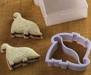 Dinosaur Sandwich Cutter http://www.thisiswhyimbroke.com/dinosaur-sandwich-cutter