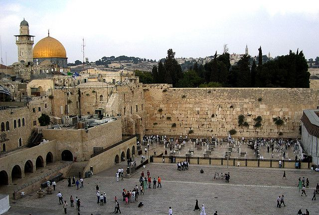 The Western Wall, sometimes referred to as the Wailing Wall is a famous Jewish religious site located in the Old City of Jerusalem