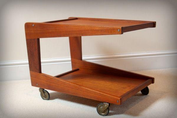 1960s Danish Teak Trolley by Sika Mobler | Vinterior London  #midcenturymodern #vintage #design #interiors
