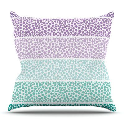 East Urban Home Riverside Pebbles Colored by Pom Graphic Design Outdoor Throw Pillow