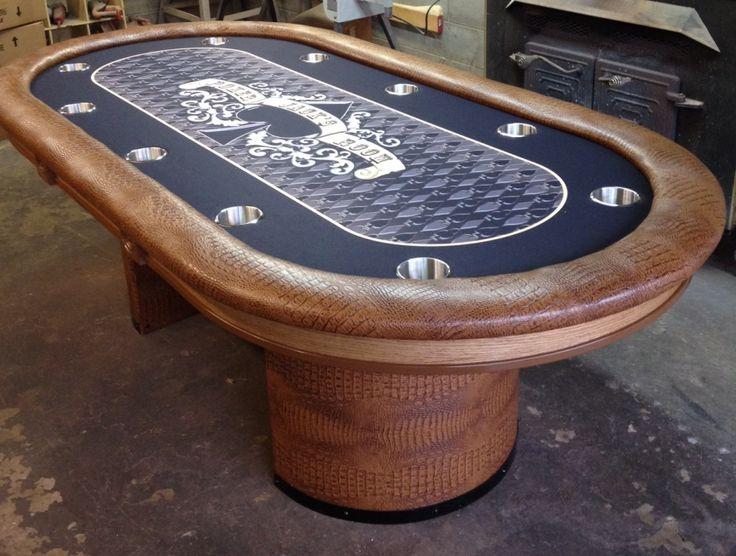 custom felt on poker table custom felt chime in drawer poker table curved ...