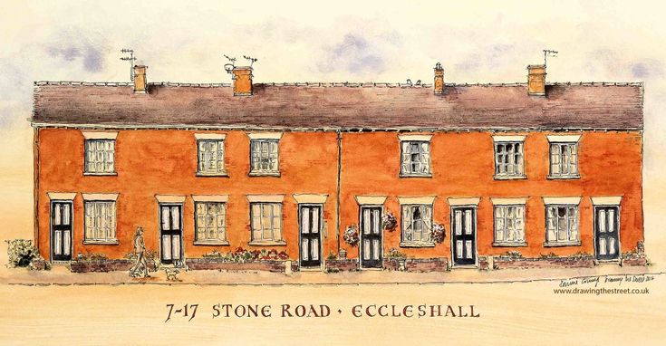 Eccleshall, 7-17 Stone Road - Drawing The Street