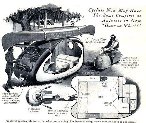 Harley Tri Glide Trike Adventure: Vintage Motorcycle Camper Trailer