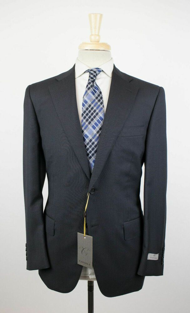 0725cb79 eBay Sponsored) NWT CANALI 1934 'Travel' Black Wool 2 Button Suit 48 ...