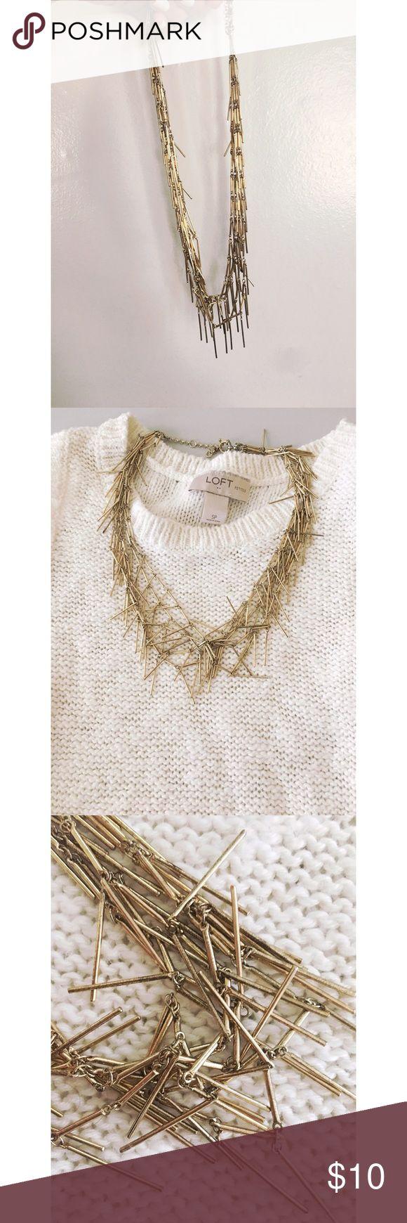 J Crew Factory Gold tassel necklace J Crew factory gold necklace in used condition J. Crew Factory Jewelry Necklaces