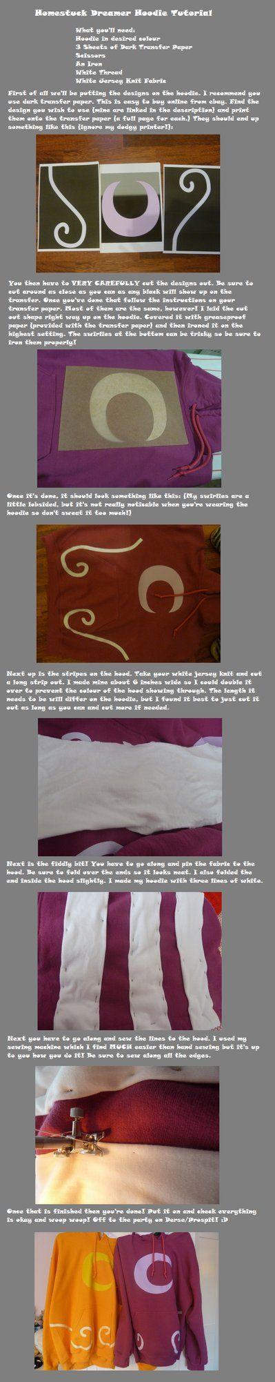 Homestuck Dreamer Hoodie DIY, SO AWESOME! :D