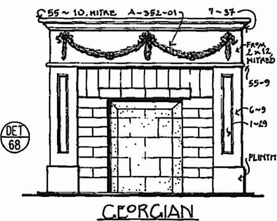 Georgian Fireplace Surround - Det. 68