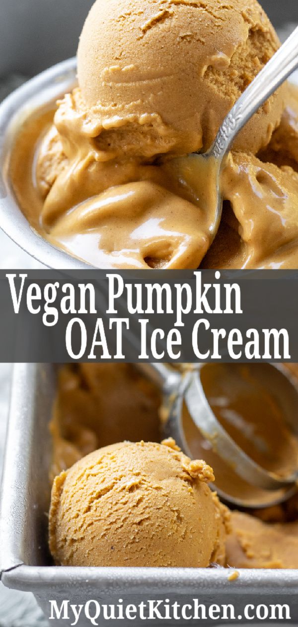 Vegan Pumpkin Oat Ice Cream No Coconut Milk Recipe Vegan Ice Cream Recipe Vegan Pumpkin Ice Cream Pumpkin Oats