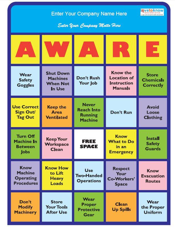 Image: safety-bingo-thumb.jpg - LoveToKnow Safety | FYI ...